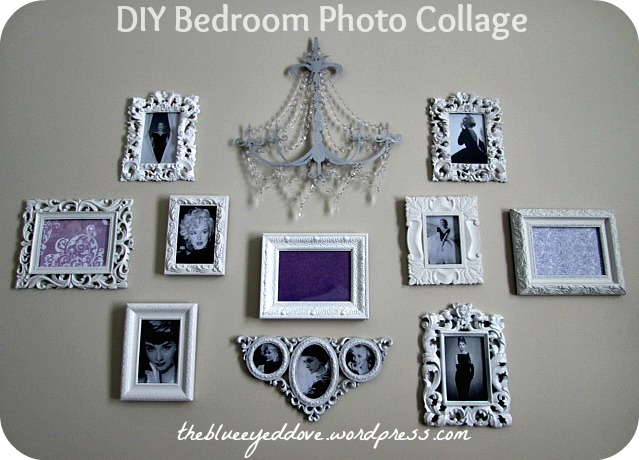 DIY Bedroom Photo Collage