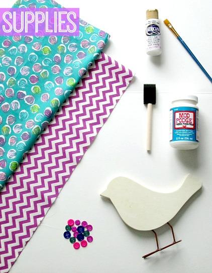 DIY Shabby Chic Bird Supplies