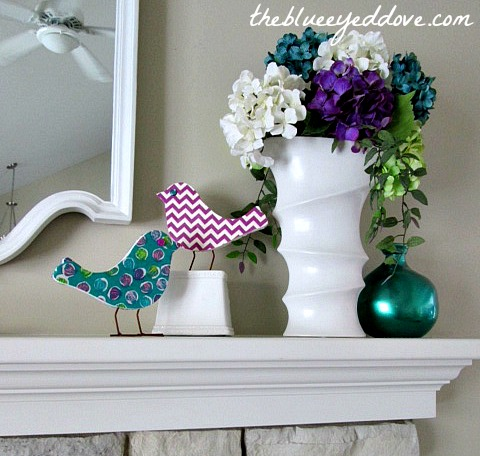DIY Shabby Chic Birds 2