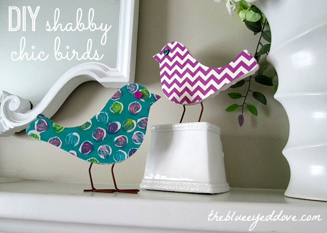 DIY Shabby Chic Birds