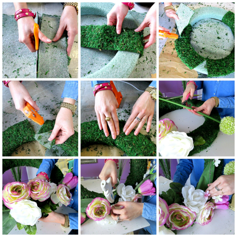 DIY Spring Wreath How To