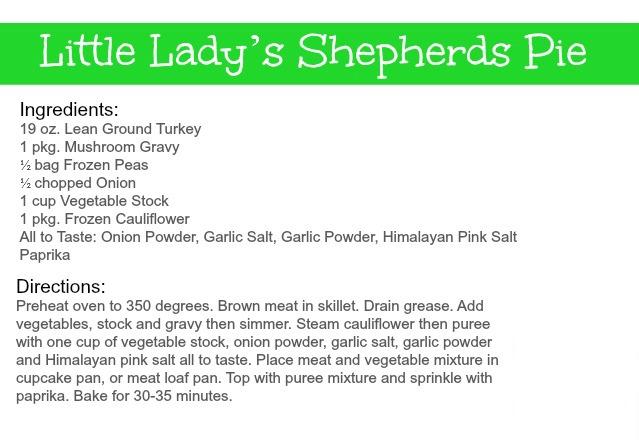 Bikini BitesLittle Lady's Shepherds Pie Recipe