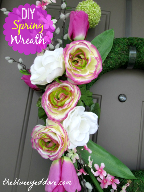DIY Spring Wreath via housebyhoff.blogspotcom