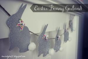 how to make easter bunny garland via housebyhoff.blogspot.com