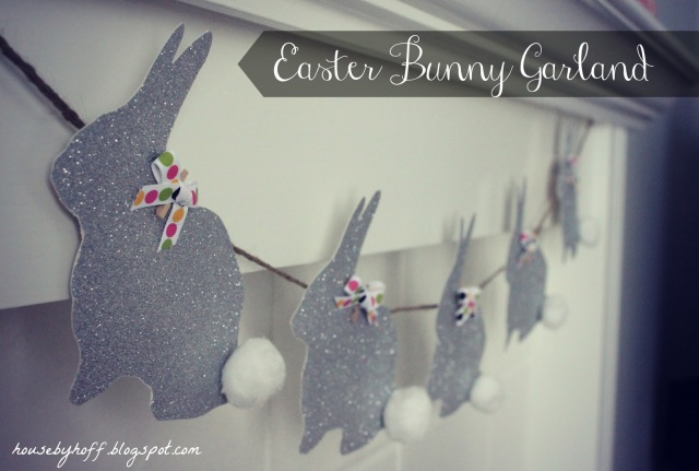 how to make easter bunny garland via housebyhoff.blogspot.com