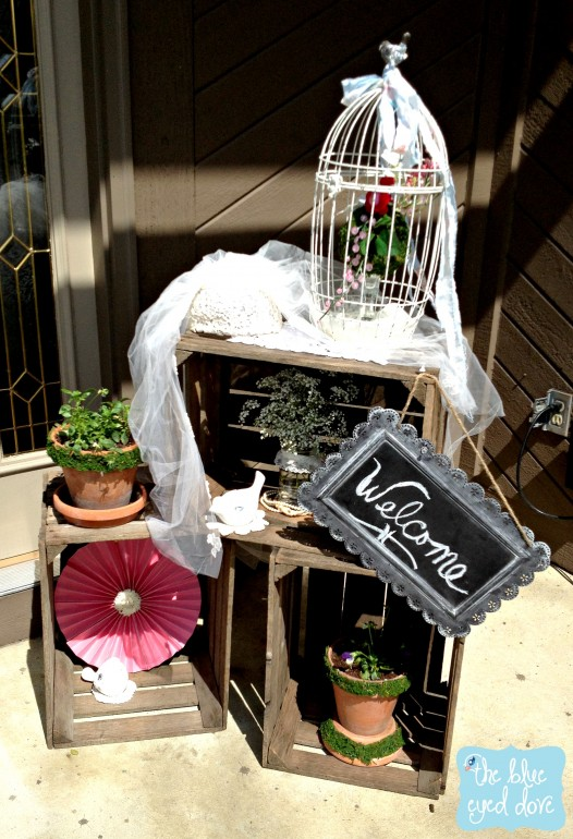 Shabby Chic Bridal Shower Welcome
