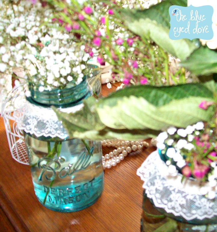 Shabby Chic Shower Centerpieces