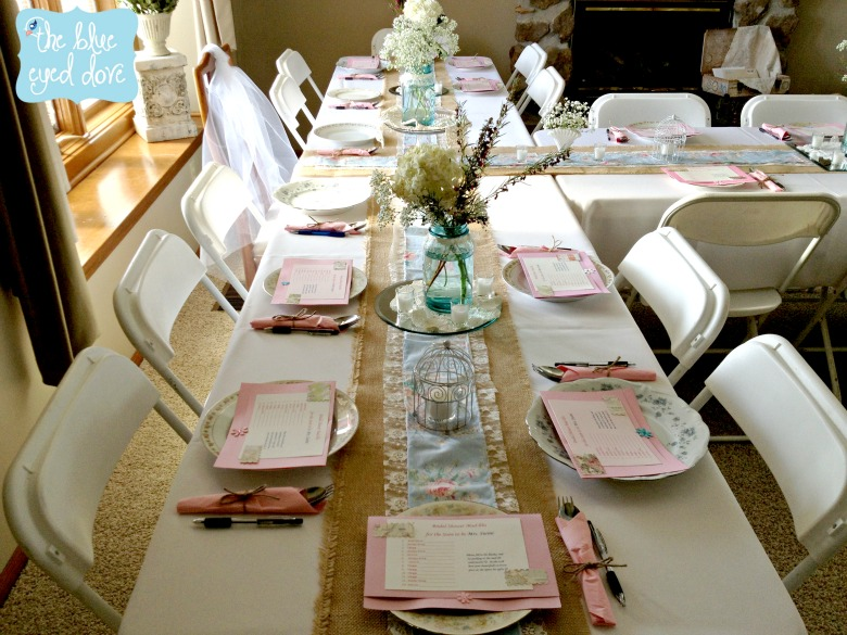 A Shabby Chic Bridal Shower Part 1 The Blue Eyed Dove