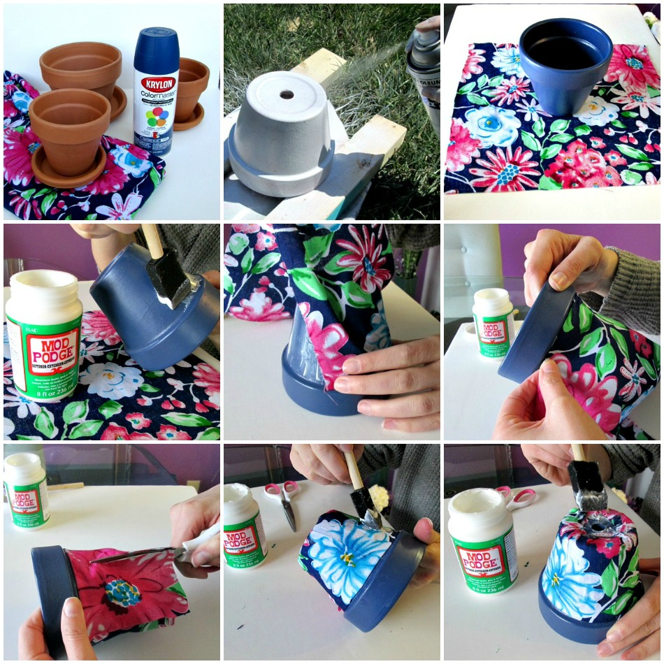 DIY Flower Pot Collage