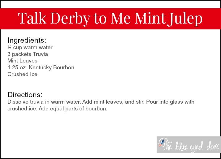 Talk Derby to Me Mint Julep