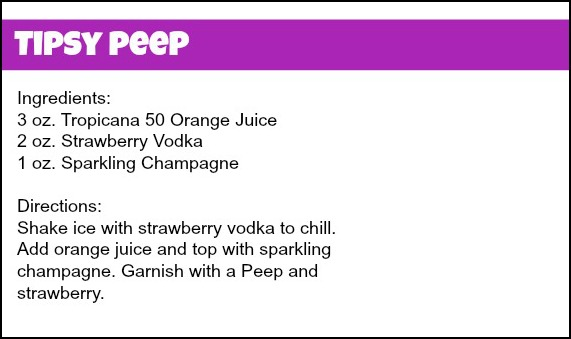 Tipsy Peep Recipe