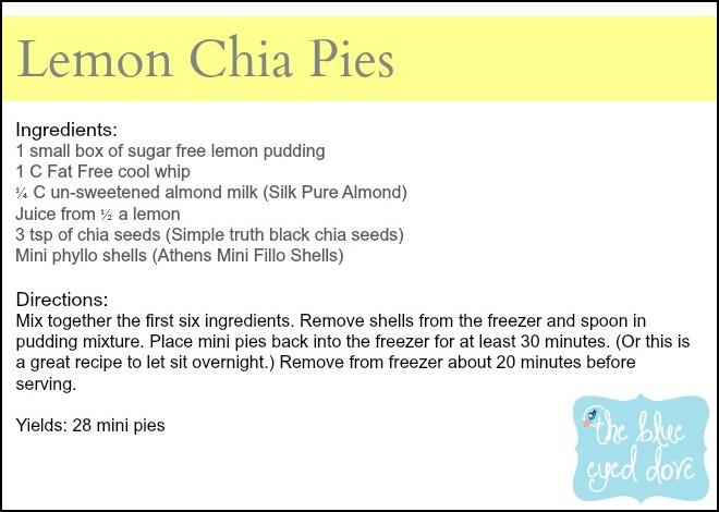 Lemon Chia Pies Recipe