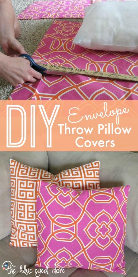 DIY Envelope Throw Pillow Covers & DIY Envelope Throw Pillow Covers | pillowsntoast.com