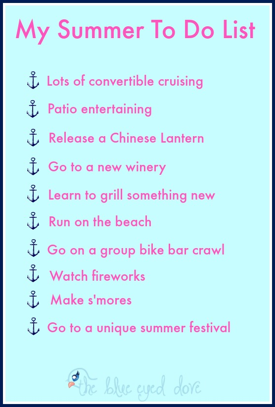 My Summer To Do List