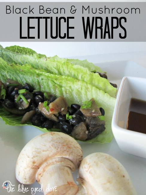Black Bean & Mushroom Lettuce Wraps