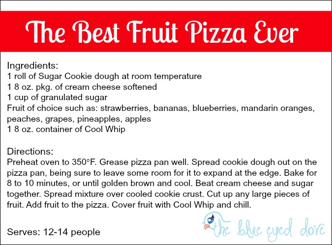 The Best Fruit Pizza Ever Recipe