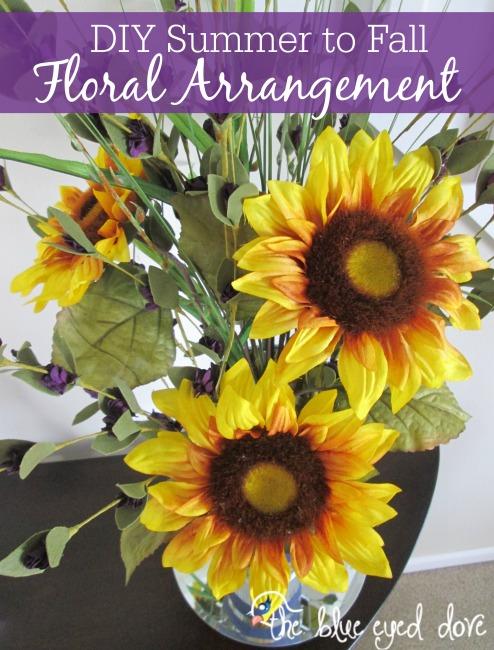 DIY Summer to Fall Flower Arrangement
