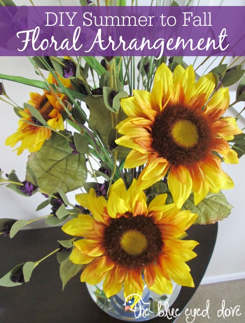 DIY Summer to Fall Flower Arrangement