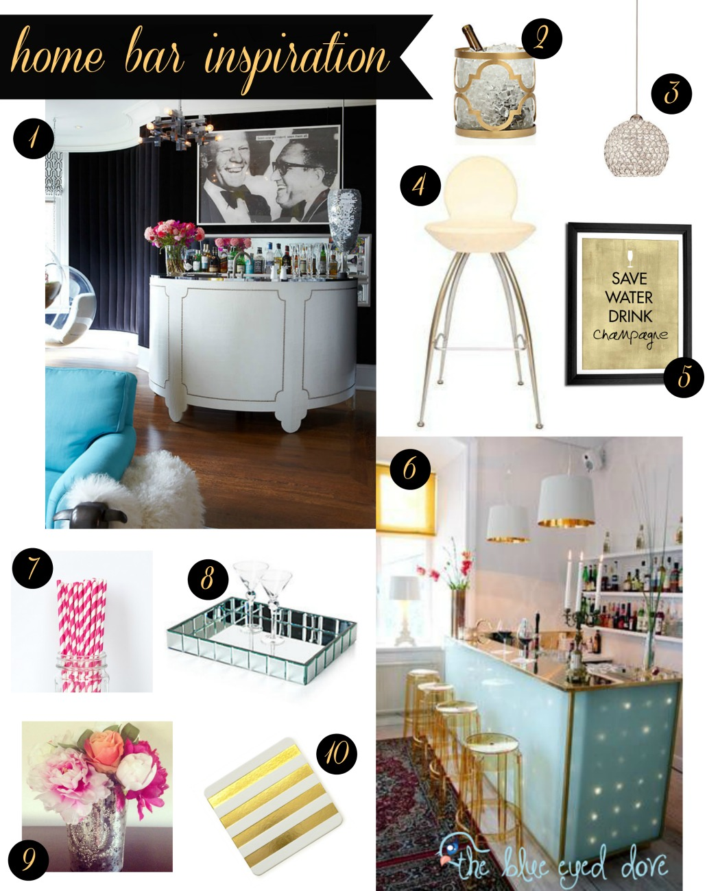Home Bar Inspiration - The Blue Eyed Dove
