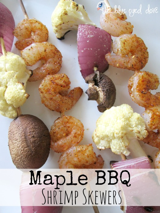 Maple BBQ Shrimp Skewers