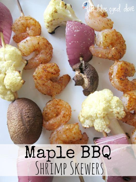Maple BBQ Shrimp Skewers