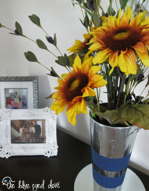 Diy floral sunflower arrangement view from the