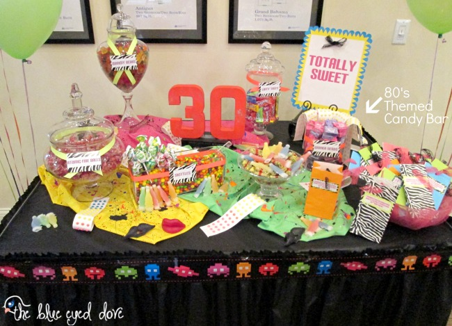 The blue eyed dove an 80 39 s themed birthday bash the for 80 s table decoration ideas