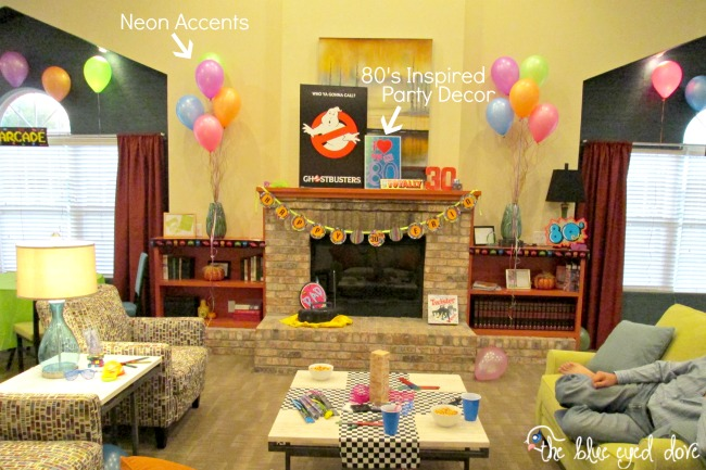 The blue eyed dove an 80 39 s themed birthday bash the for Decoration 80 s