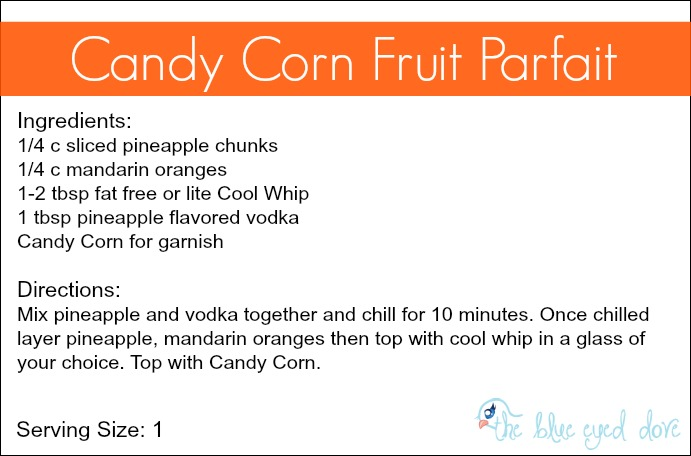 Candy Corn Fruit Parfait Recipe