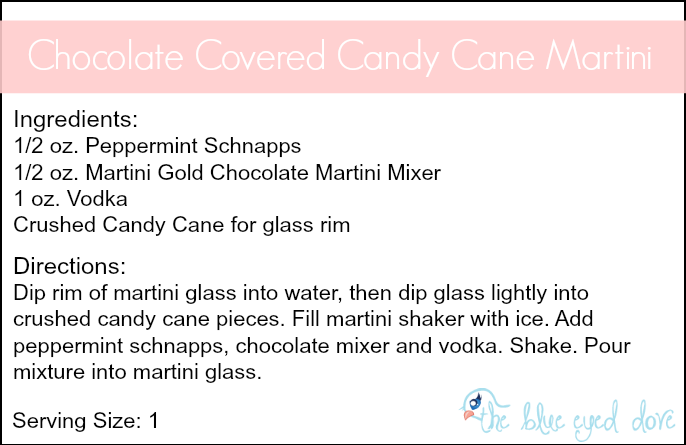 Chorcolate Covered Candy Cane Martini Recipe