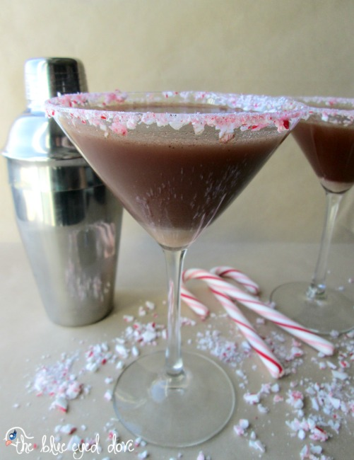 Chocolate Covered Candy Cane Martini