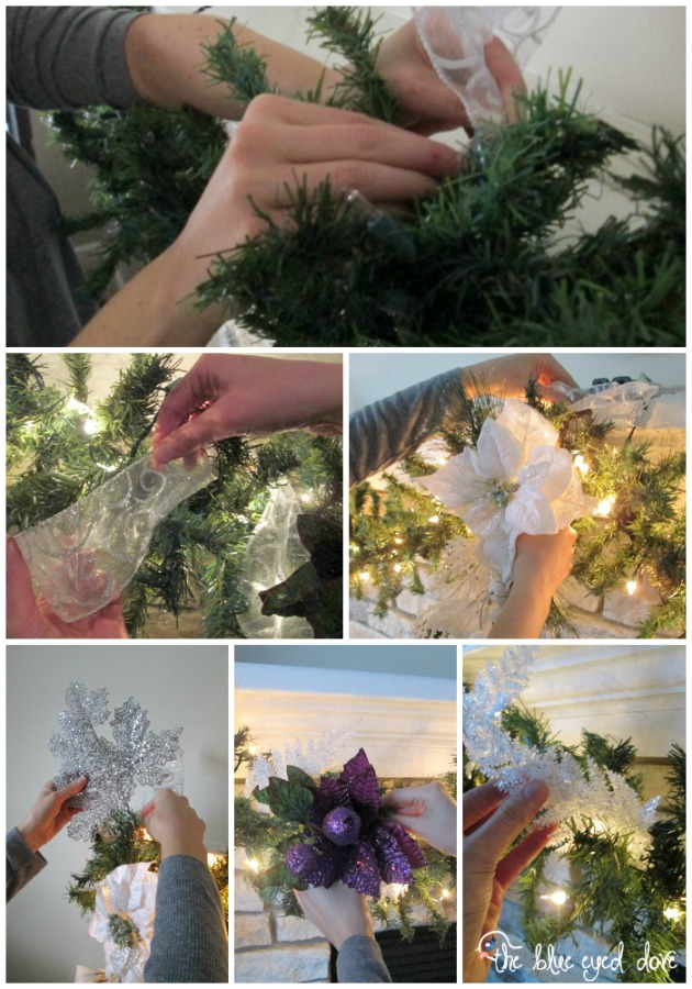 Decorating a mantel with Garland