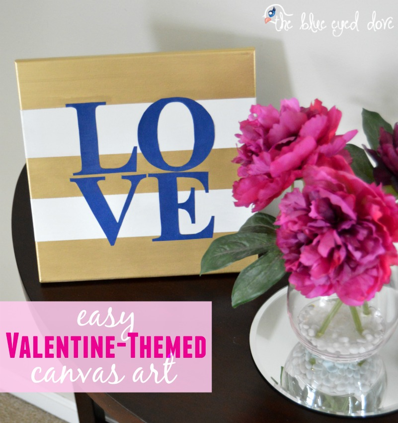 Easy Valentine-Themed Canvas